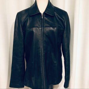 Wilson Leather Black jacket size L